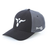 Wrangler® A-Flex® Grey & Black Stretch Fit Cap