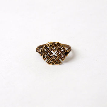 Celtic knot Ring Metal Brass Casting Ring Size 6,5