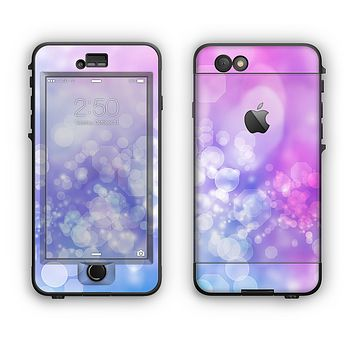 The Blue and Purple Translucent Glimmer Lights Apple iPhone 6 Plus LifeProof Nuud Case Skin Set