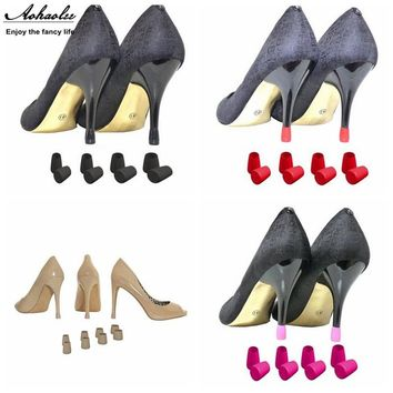 8 pair High Heel Protector Noise Elimination Anti Skid Wearable Heel Stoppers High Stiletto Heel Cup For Wedding Party