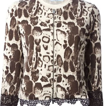 Blumarine lace trimmed cropped cardigan