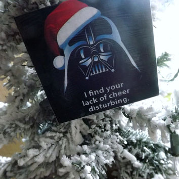 Star Wars Darth Vader Christmas Ornament- Glass Keepsake Ornament