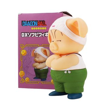 16cm Anime Dragon Ball Z Oolong Pig Dragonball Cute Pig PVC Action Figure Animal Collectible Model Toy Gift For Kids