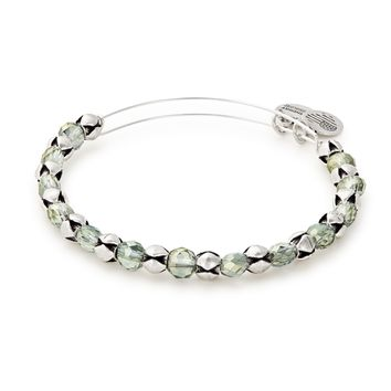 Winter Solace Snowbell Beaded Bangle