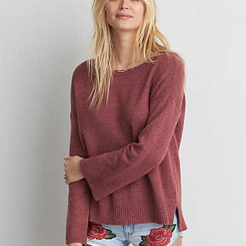 AEO Open Back Sweater, Rose