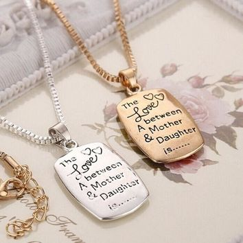 PEAPIX3 Fashion Love Between Mother and Daughter Gold/Silver Chain Pendant Necklace Best Gift = 1945957892