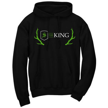 Scump Throne Hoodie - AGrnWht on Blk
