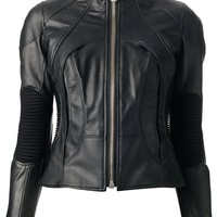 Junya Watanabe Comme Des Garçons Funnel Neck Leather Jacket - Bernardelli - Farfetch.com