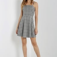 Glen Plaid Fit and Flare Dress