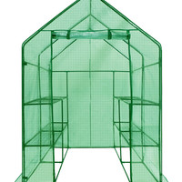 "Ogrow Deluxe WALK-IN  8 Shelf Portable Lawn and Garden Greenhouse  77"" H x 56"" W x 56"" D"