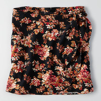 AEO Wrap Skirt, True Black