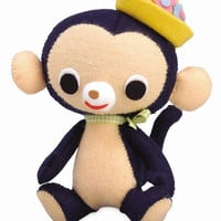 Felt Stuffed Animal Monkey Japanese DIY Kit  by JapanLovelyCrafts