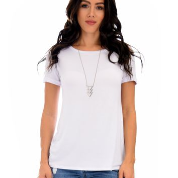 Lyss Loo The New Classic Cuffed Sleeve Ivory Tunic Top