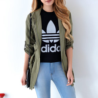 Adidas Loose Fit Grey Mirrored Trefoil Tee