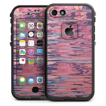 Abstract Wet Paint Pink Sag - iPhone 7 LifeProof Fre Case Skin Kit