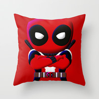Chibi dead pool Wade Winston Wilson Decorative cushion Throw Pillow case by Three Second