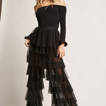 Kikiriki Sheer Ruffle Pants