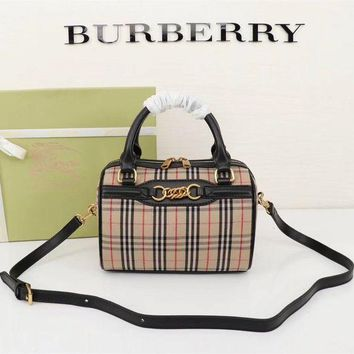 PEAP BURBERRY WOMEN'S LEATHER HANDBAG INCLINED SHOULDER BAG