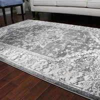 5060 Gray Oriental Area Rugs