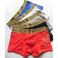 Versace Popular Men Embroidery Cotton Underwear(7-Color) I