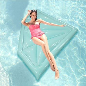 Pool Inflatable Diamond Floating Bars Adult Water Lounger Inflatable Swim Ring Beach Air Mattress