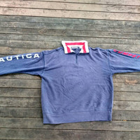 Nautica competition Half zip sweatshirt vintage design hip hop