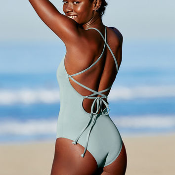 Lace-Up Back One-Piece - Victoria's Secret