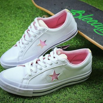 2018 YEAR OF THE DOG Converse One Star White Pink Shoes - Best Online Sale