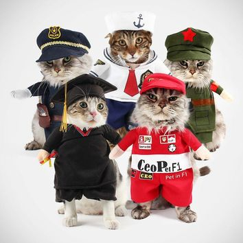 Pet Clothing Halloween Uniform for a cat