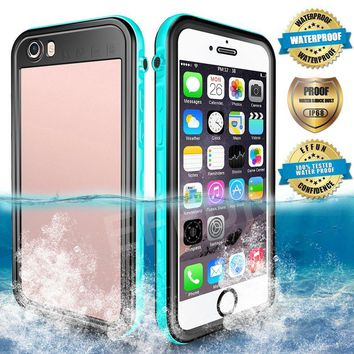 Waterproof iPhone 6/6s/6 Plus/6s Plus Case, EFFUN IP68 Certified Waterproof Dirt/Snow/Shockproof Case with Cell Phone Holder, PH Test Paper, Stylus Pen and Floating Strap Black/White/Pink/Aqua Blue