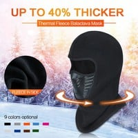 New Unisex Winter Warm Hat Motorcycle Windproof Face Mask Hat Neck Helmet Beanies For Men Women Sports Bicycle Thermal Fleece Ba