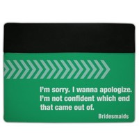 "iPad 2/3 Leather Cover - Bridesmaids ""I'm sorry..."""