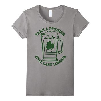 St. Patrick's Day Take A Pitcher Graphic T-Shirt