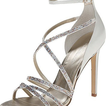 Ivanka Trump Hyde Ankle Strap Dress Sandals - Gold Multi