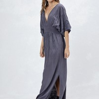 Ella Embroidered Maxi Dress - Slate