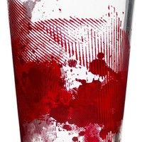 BLOOD SPLATTER PINT GLASS