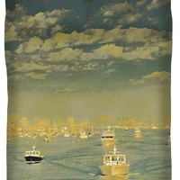 Seascape With Boats Queen Duvet Cover for Sale by Ben and Raisa Gertsberg