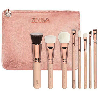 ZOEVA 8pcs Makeup Brushes Professional Rose Golden Luxury Set Brand Make Up Tools Kit Powder Blend Cosmetic brushes LUXURY SET