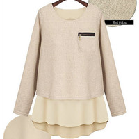 Layered Knit Sweater Top