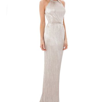 Carmen Marc Valvo Infusion Beaded Halter Gown | Dillards