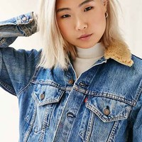 Urban Renewal Remade Sherpa Collar Denim Jacket