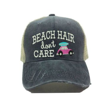 """Beach Hair Don't Care"" Surf Trucker Hat"