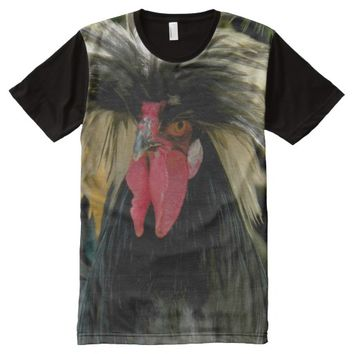 Bad Hair Chicken Photo All-Over Print Shirt