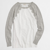 Factory scallop intarsia heathered sweater : Sweaters | J.Crew Factory