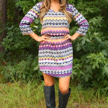 I Fall To Pieces Dress: Multi
