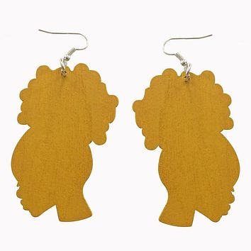 Afro Puff Earrings (6 colors) | Natural hair earrings | Afrocentric earrings | jewelry | accessories