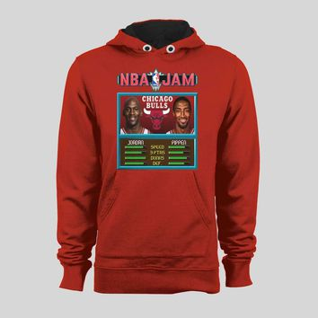 MICHAEL JORDAN & PIPPEN BASKETBALL VIDEO GAME JAM GAME PARODY BASKETBALL SWEATER / HOODIE