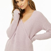 Woven Heart Chenille Surplice Top