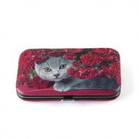 Cat With Flowers Nail Care Set Bathroom Cat Item | Ideal Gift for a Cat Lover