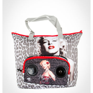 Marilyn Monroe Leopard Audio Tote Bag